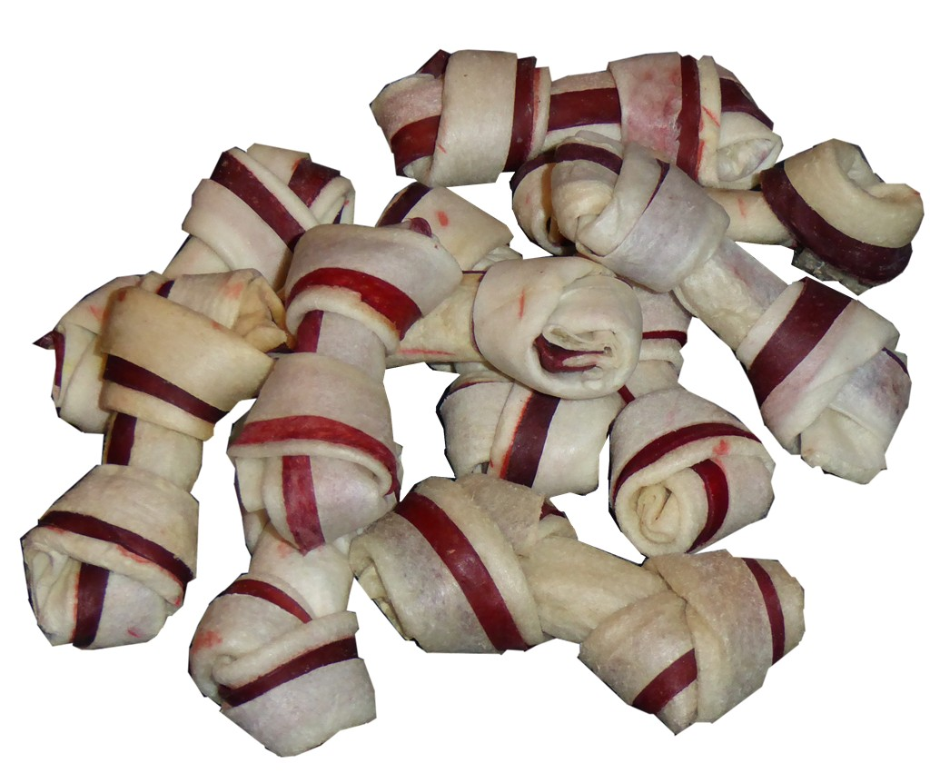 HDP Premium Natural Rawhide Mini Bones With CHICKEN 2.5""